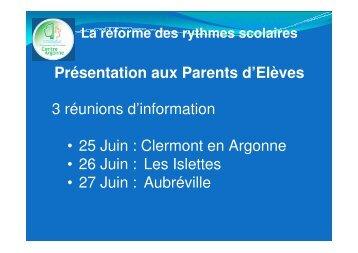 Réforme des rythmes scolaires 2013 - Communauté de Communes ...