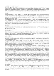 legge 4 agosto 2006, n.248 - disposizioni urgenti per il ... - ANCUPM