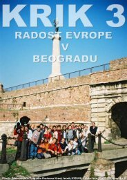 Posebna Å¡tevilka o obisku festivala Radost Evrope v Beogradu