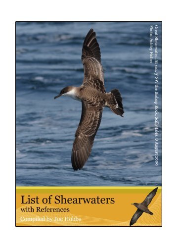 Shearwater references - Dutch Birding