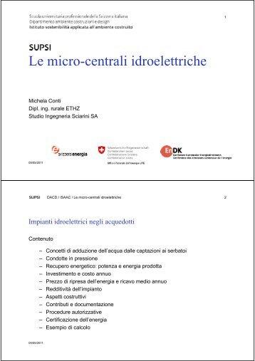 Le micro-centrali idroelettriche - admin.ch