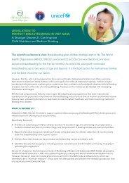 Policy brief on Marketing Code (Decree21) - Alive & Thrive