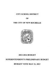 2013-2014 Preliminary Budget - City School District of New Rochelle
