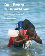 Das Recht zu überleben - Oxfam