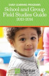 Open and view the Early Learning Field Studies Guide - EdVenture ...