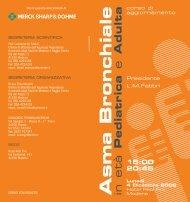 Asma Bronchiale in età - Clinica malattie apparato respiratorio