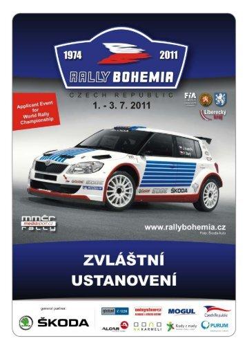Zvláštní ustanovení - Rally Bohemia
