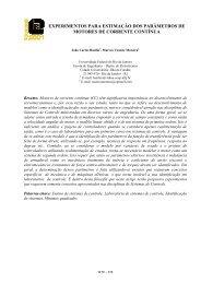experimentos para estimação dos parâmetros de motores de ...