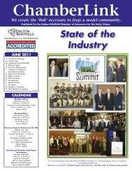 October 2009 ChamberLink - Dalton-Whitfield Chamber of Commerce
