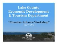 Lake County Economic Development & Tourism Department