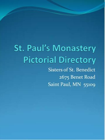to view photos - St. Paul's Monastery