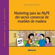 Marketing para las Mype del sector comercial de muebles ... - Desco
