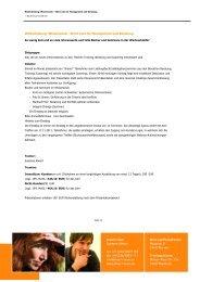 Weiterbildung: Wissensclub - Short cuts für ... - Alwart-Team