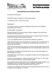 2010 - Bevaringsforeningen for Præstø og omegn