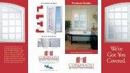 Product Brochure - Custom Shutter Company