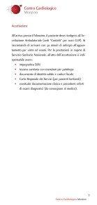 Visite ed esami ambulatoriali - Centro Cardiologico Monzino - Page 7