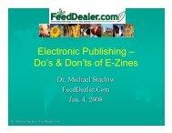 Electronic Publishing – Do's & Don'ts of E-Zines - FeedDealer.Com