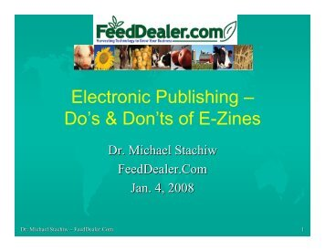 Electronic Publishing – Do's & Don'ts of E-Zines - FeedDealer.Com
