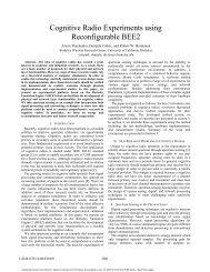 Cognitive Radio Experiments using ... - M. Javad Omidi