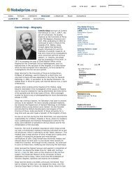 Camillo Golgi - Biography - BACK