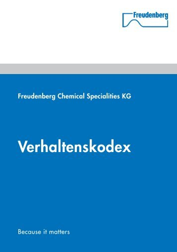 FCS Verhaltenskodex - Freudenberg Chemical Specialities
