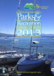 2013 Parks and Recreation Activity Guide - Tahoe City Public Utility ...