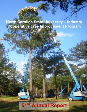 Annual Report 51, published in 2007 - Tree Improvement Program