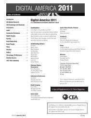 Digital America 2011 - Consumer Electronics Association