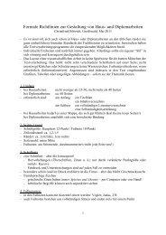 Formale Richtlinien für Haus- und Diplomarbeiten