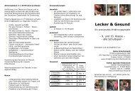 Angebotsflyer für das Projekt Lecker & Gesund - Ernährung / Praxis ...