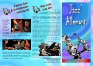 Festival jazz Allemont programme 2012