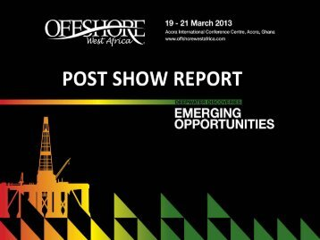 click here for the 2013 post show report - Offshore West Africa