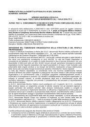 PUBBLICATO SULLA GAZZETTA UFFICIALE N. 65 DEL ... - ASL AL