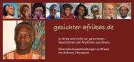 Weitere Informationen als Flyer (PDF) - Gesichter Afrikas
