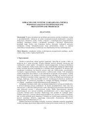 Opracowanie systemu zarządzania wiedzą ... - PTZP