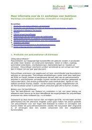 Lees meer over de workshops - Biobased Zeeland