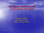 Ordering, Dimerization & Criticality in Some Quantum Spin Systems