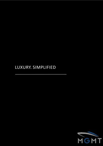 LUXURY.'SIMPLIFIED - MGMT Yacht