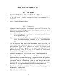 1 Satzung Förderverein Saufen für die Bib e.V. § 1 Name und Sitz 1 ...