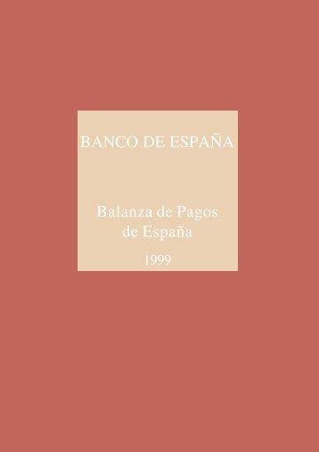 BANCO DE ESPAÑA Balanza de Pagos de España