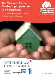 Health and wellbeing - Nottingham City Homes