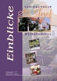 Einblicke Ausgabe 17 Oktober 2011 - Seniorenheim St.Josef ...