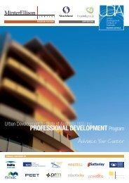 PROfESSiONAL DEvELOPMENT Program - UDIA