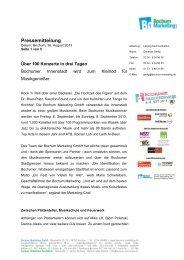 Über 100 Konzerte in drei Tagen - Bochumer Musiksommer