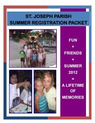 st. joseph parish summer registration packet - St. Joseph Catholic ...