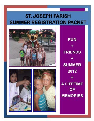 st. joseph parish summer registration packet - St. Joseph Catholic ...