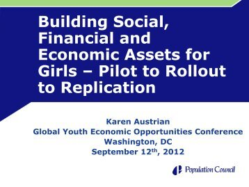 Building Social, Financial and Economic Assets for Girls - Youth ...