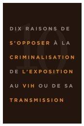 Dix raisons de s'opposer à la criminalisation de l'exposition