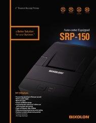 SRP-150 Sales Brochure. - Bixolon Mini Printers UK