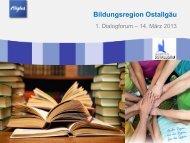 Bildungsregion Ostallgäu - Unsere neue Bürgerinformationsplattform